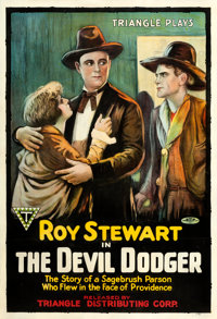 """The Devil Dodger (Triangle, 1917). One Sheet (27.5"""" X 40.5"""")"""