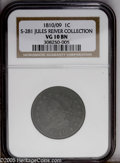 Large Cents: , 1810/09 1C S-281 VG10 NGC....