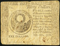 Colonial Notes:Continental Congress Issues, Continental Currency September 26, 1778 $30 Fine-Very Fine.. ...