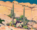 Fine Art - Painting, American:Modern  (1900 1949)  , John O'Shea (American, 1876-1956). Campo de Oro. Oil oncanvas. 25 x 30-1/2 inches (63.5 x 77.5 cm). Signed lower left: ...