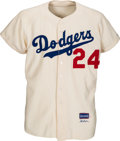Baseball Collectibles:Uniforms, 1956 Walt Alston Game Worn Brooklyn Dodgers Jersey, MEARS A10....