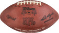 Football Collectibles:Balls, 1974 Washington Redskins Leather NFL Game Ball Presented to Dave Robinson....