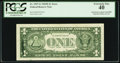 Error Notes:Ink Smears, Fr. 1907-G $1 1969D Federal Reserve Note. PCGS Extremely Fine 40.....
