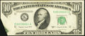 Error Notes:Foldovers, Fr. 2013-K $10 1950C Federal Reserve Note. About Uncirculated.. ...