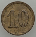 Netherlands East Indies, Netherlands East Indies: Java. Boemie Ajoe 10 Cents Token,...