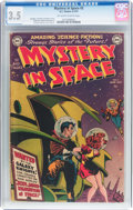 Golden Age (1938-1955):Science Fiction, Mystery in Space #2 (DC, 1951) CGC VG- 3.5 Off-white to whitepages....