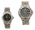 Estate Jewelry:Watches, Tag Heuer Gentleman's and Lady's Stainless Steel ProfessionalWatches. ... (Total: 2 Items)