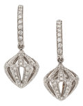 Estate Jewelry:Earrings, Diamond, White Gold Earrings, Luca Carati. ... (Total: 2 Items)