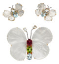 Estate Jewelry:Suites, Multi-Stone, Diamond, Mother-of-Pearl, Gold Jewelry Suite. ... (Total: 3 Items)