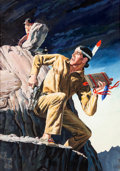 Original Comic Art:Covers, The Lone Ranger's Companion Tonto #32 Cover PaintingOriginal Art (Dell, 1958)....