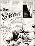 Original Comic Art:Splash Pages, Keith Giffen and Dennis Janke Action Comics #646 Splash Page Original Art (DC, 1989)....