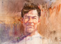 Paintings, Robert Peak (American, 1927-1992). Jim Thorpe, 1983. Watercolor and pastel on paper. 20.25 x 28.25 in. (sight). Signed a...