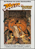 """Movie Posters:Adventure, Raiders of the Lost Ark (Paramount, R-1982). German A1 (23.25"""" X33"""") & Belgian (17.25"""" X 22.5""""). Adventure.. ... (Total: 2Items)"""