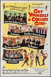 """Get Yourself a College Girl (MGM, 1964). One Sheet (27"""" X 41"""") & Lobby Card Set of 8 (11"""" X 14"""")..."""