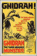 "Movie Posters:Science Fiction, Ghidrah, the Three-Headed Monster (Continental, 1965). One Sheet(27"" X 41""). Science Fiction.. ..."