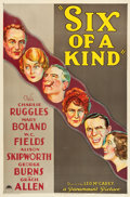"""Movie Posters:Comedy, Six of a Kind (Paramount, 1934). One Sheet (27"""" X 41"""").. ..."""