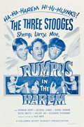 """Movie Posters:Comedy, The Three Stooges in Rumpus in the Harem (Columbia, 1956). One Sheet (27"""" X 41""""). Comedy.. ..."""