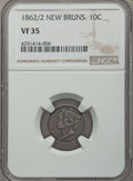 Canada:New Brunswick, Canada: New Brunswick. Victoria 10 Cents 1862/2 VF35 NGC,...