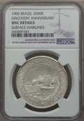 Brazil, Brazil: Republic 2000 Reis 1900 UNC Details (Surface Hairlines)NGC,...