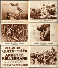 """Queen of the Sea (Fox, 1918). Title Lobby Card & Lobby Cards (5) (11"""" X 14""""). ... (Total: 6 Items)"""