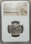 Ancients:Roman Provincial , Ancients: SELEUCID KINGDOM. Philip I Philadelphus (95-75BC). AR tetradrachm. ...