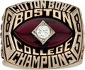 Football Collectibles:Others, 1984-85 Doug Flutie Boston College Eagles Cotton Bowl Champions Salesman's Sample Ring. ...