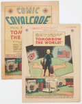 Golden Age (1938-1955):Non-Fiction, Comic Cavalcade Giveaway #nn Tomorrow The World Group of 2 (DC,1945).... (Total: 2 Comic Books)