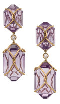 Estate Jewelry:Earrings, Amethyst, Diamond, Gold Earrings, Verdura . ... (Total: 2 Items)