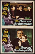 """Movie Posters:Comedy, The Bishop's Wife (RKO, 1948). Lobby Cards (2) (11"""" X 14""""). Comedy.. ... (Total: 2 Items)"""