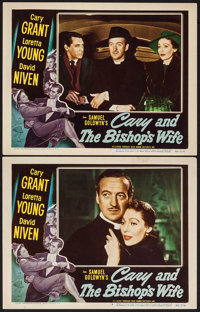 """The Bishop's Wife (RKO, 1948). Lobby Cards (2) (11"""" X 14""""). Comedy. ... (Total: 2 Items)"""