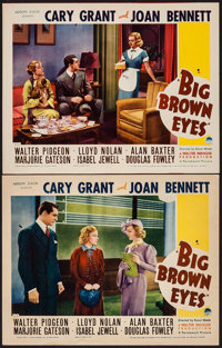 """Big Brown Eyes (Paramount, 1936). Lobby Cards (2) (11"""" X 14""""). Comedy. ... (Total: 2 Items)"""