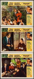 "Movie Posters:Mystery, Charade (Universal, 1963). Lobby Cards (3) (11"" X 14""). Mystery..... (Total: 3 Items)"