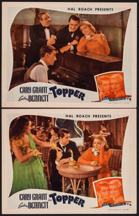 """Topper (Film Classics, R-1944). Lobby Cards (2) (11"""" X 14""""). Comedy. ... (Total: 2 Items)"""