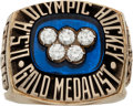 "Hockey Collectibles:Others, 1980 ""Miracle on Ice"" Olympic Hockey Salesman's Sample Ring...."