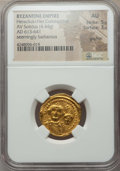 Ancients:Byzantine, Ancients: Heraclius (AD 610-641), with Heraclius Constantine (AD 613-641). AV solidus (4.44 gm). ...
