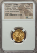 Ancients:Byzantine, Ancients: Constans II (AD 641-668), with Constantine IV. AV solidus(4.35 gm)....