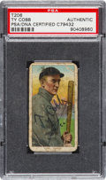 Baseball Cards:Singles (1960-1969), 1909-11 T206 Polar Bear Ty Cobb Bat Off Shoulder Signed, PSA/DNAAuthentic....