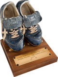 Baseball Collectibles:Uniforms, 1986 Mookie Wilson World Series Game Six Worn Cleats....