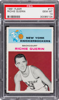 Basketball Cards:Singles (Pre-1970), 1961 Fleer Richie Guerin #17 PSA Gem Mint 10 - Pop Two....