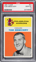 Basketball Cards:Singles (Pre-1970), 1961 Fleer Tom Meschery #31 PSA Gem Mint 10 - Pop Four....