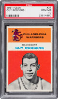 Basketball Cards:Singles (Pre-1970), 1961 Fleer Guy Rodgers #37 PSA Gem Mint 10 - Pop Two. ...