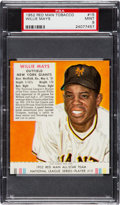 Baseball Cards:Singles (1950-1959), 1952 Red Man Willie Mays #15 PSA Mint 9 - Pop Two, None Higher. ...