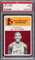 Basketball Cards:Singles (Pre-1970), 1961 Fleer Al Attles #1 PSA Mint 9 - None Higher....