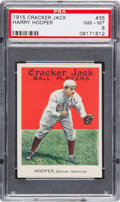 Baseball Cards:Singles (Pre-1930), 1915 Cracker Jack Harry Hooper #35 PSA NM-MT 8....