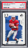 Football Cards:Singles (1970-Now), 2000 SP Authentic Tom Brady #118 PSA Gem Mint 10....