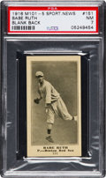 Baseball Cards:Singles (Pre-1930), 1916 M101-5 Blank Back Sporting News Babe Ruth Rookie #151 PSA NM 7....