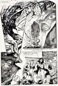 Original Comic Art:Panel Pages, Stephen Bissette and John Totleben Swamp Thing V2#46 StoryPage Original Art (DC, 1986)....