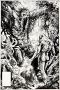 Original Comic Art:Covers, Stephen Bissette and John Totleben Swamp Thing #47 Cover Parliament of Trees Original Art (DC, 1986)....