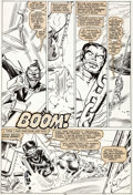 Original Comic Art:Panel Pages, Steve Leialoha and Bob Wiacek Spider-Woman #38 Story Page 9 Colossus Original Art (Marvel, 1981)....
