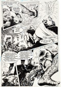 Original Comic Art:Panel Pages, Stephen Bissette and John Totleben Swamp Thing Annual #2Story Page 37 Original Art (DC, 1985)....